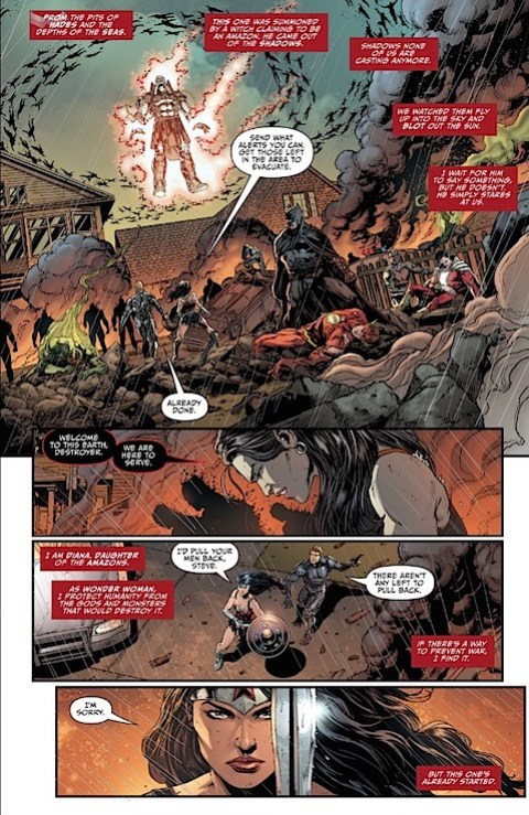 Wonder Woman prepares for battle