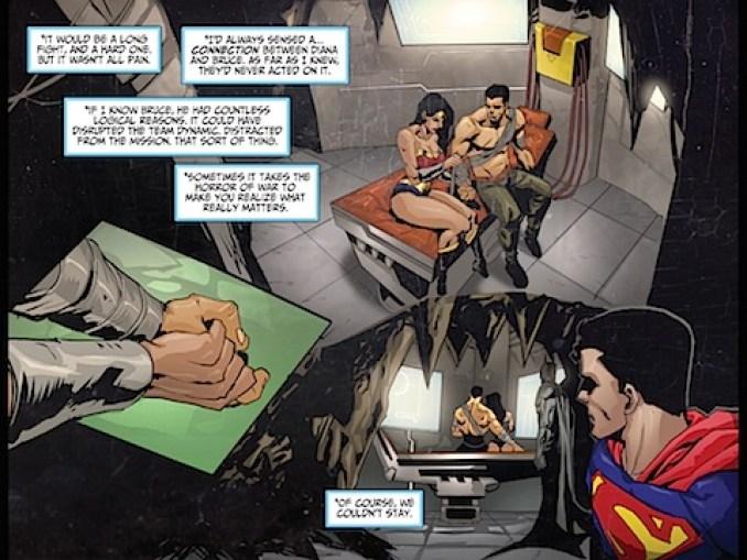 Wonder Woman and Batman get close