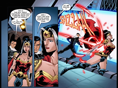 Superman and Wonder Woman reconcile
