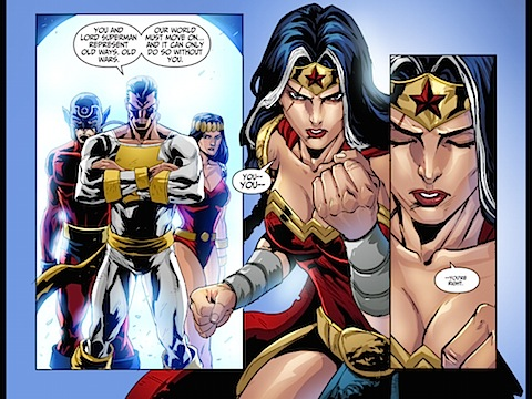 Diana can't go with the Justice Lords