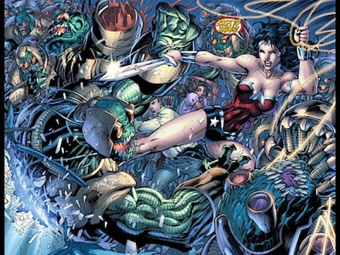 Justice League Wonder Woman fight
