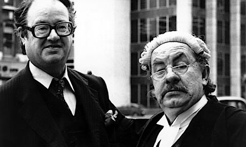 John Mortimor and Leo McKern as Rumpole of the Bailey