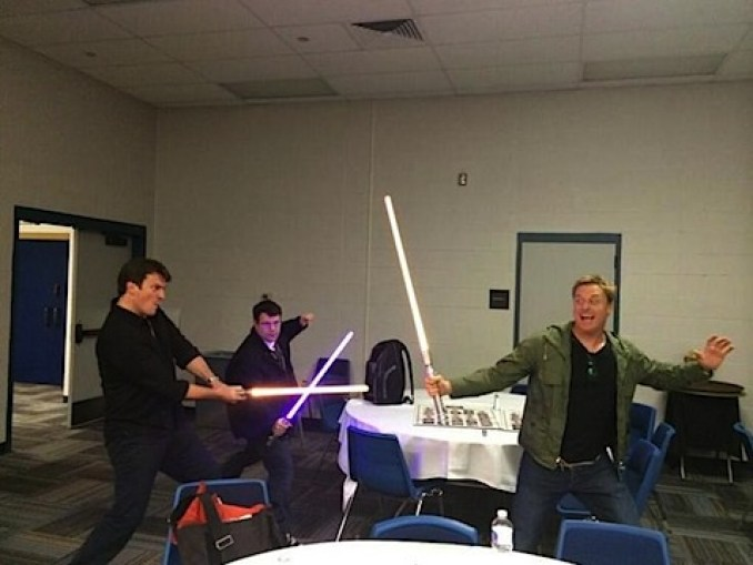 Lightsabre fight
