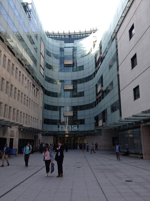 The new building at Broadcasting House