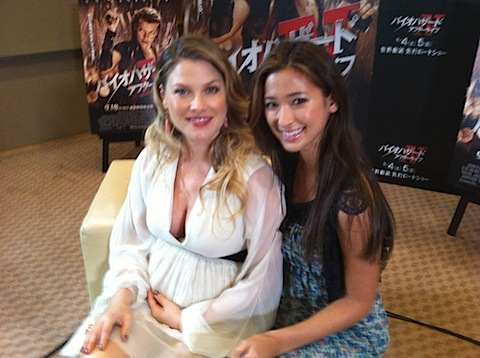 Ali Larter with a random fan