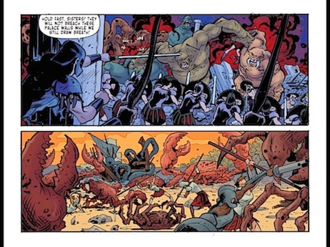 The Amazons fight monsters