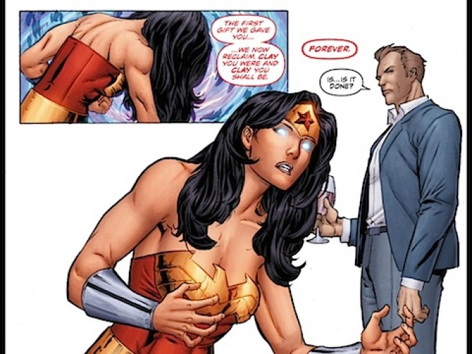 Wonder Woman becomes a statue