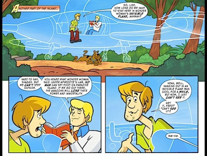 Shaggy and Fred in the invisible plane
