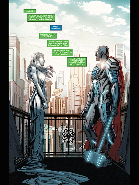 Brainiac shows Superman utopia