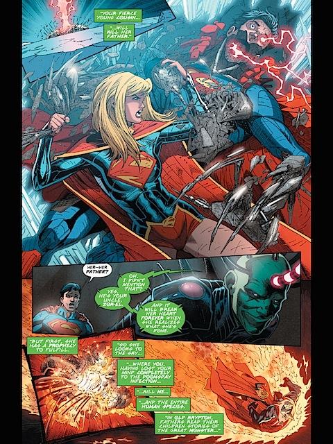 Supergirl fights Cyborg Supermn
