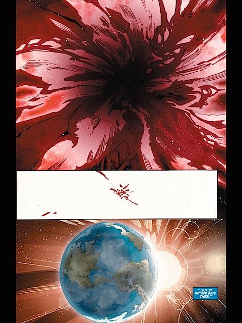 Brainiac's ship gets sucked into a black hole