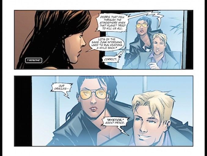 Lois Lane and Wonder Woman videoconference