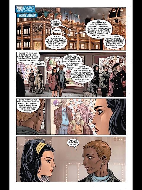 Wonder Woman goes shopping in Harrods