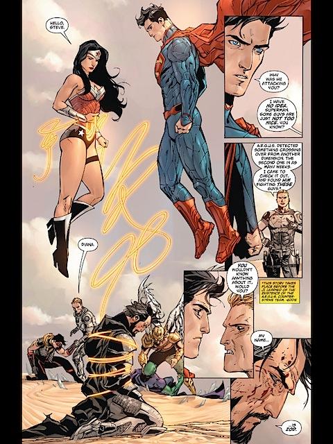 Wonder Woman defeats Zod