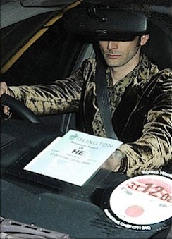 David Tennant in his own car