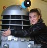 Sheridan Smith with a Dalek