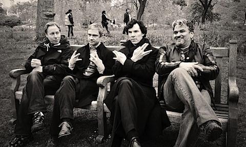Martin Freeman and Benedict Cumberbatch say Live Long And Prosper