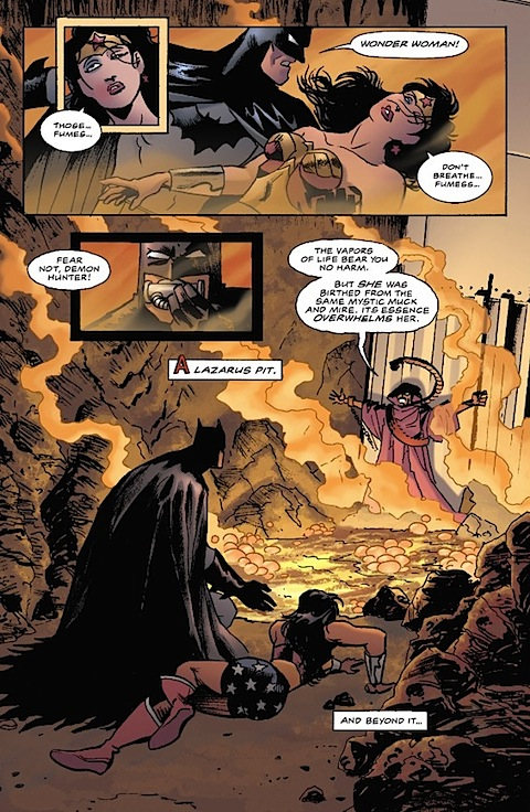 Wonder Woman is affected by the Lazarus Pit