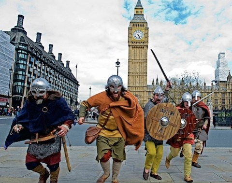Vikings invade Parliament Square