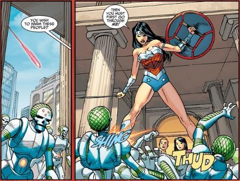 Wonder Woman defends the mortals