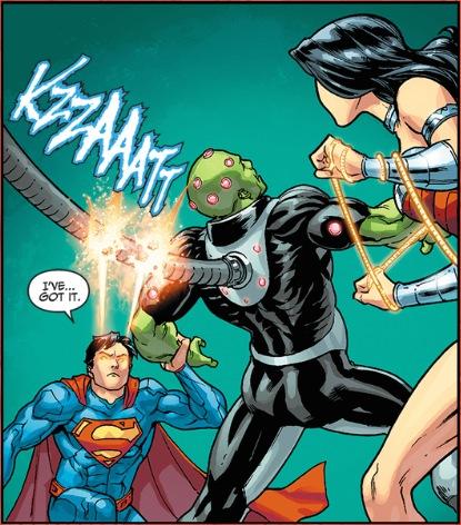 Superman cuts the cord