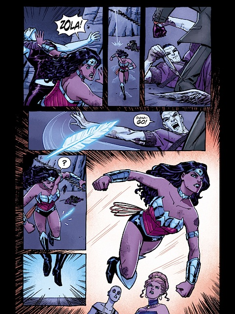 Wonder Woman learns to fly