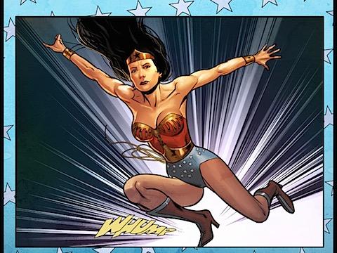 Wonder Woman appears