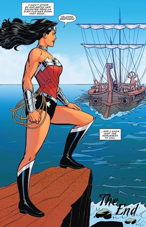 Wonder Woman welcomes the male Amazons