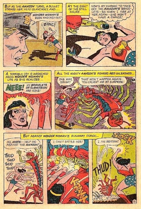 Wonder Woman loses her bracelets