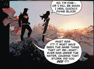 Wonder Woman heals quickly