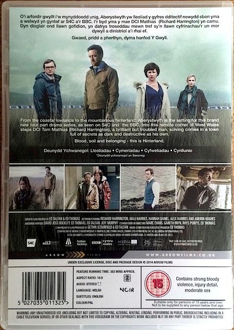 Y Gwyll DVD rear