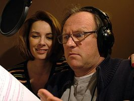 Nicola Bryant and Peter Davison