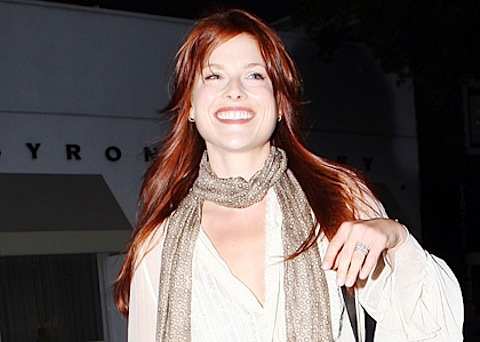 Ali Larter with red hair