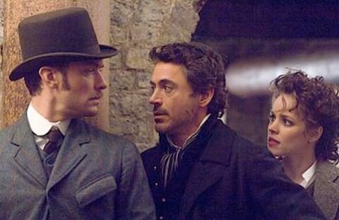 Robert Downey, Jude Law and Rachel McAdams in Guy Ritchie's Sherlock Holmes