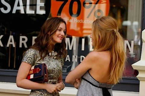 Blair and Serena in Gossip Girl 3x1