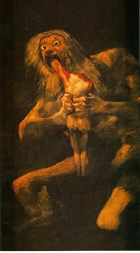 Goya's Saturn devouring his son