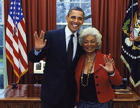 President Obama with Nichelle Nichols
