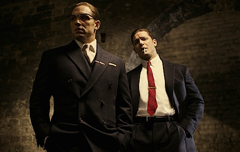 Tom Hardy as the Kray Brothers