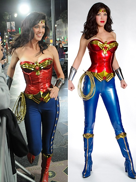 Wonder Woman: after and before the costume redesign