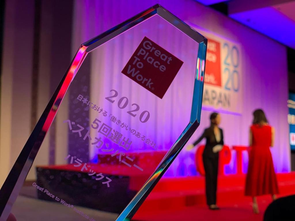 「働きがいのある会社」2020ベストカンパニー受賞