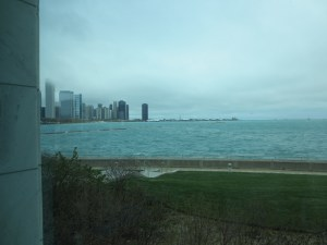 View of Chicago from the Shedd Aquarium