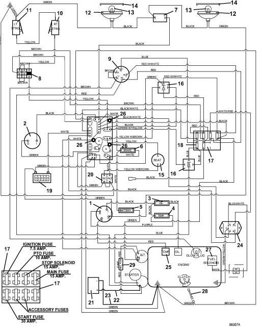 722d2 grasshopper mower  wiring diagram  parts list