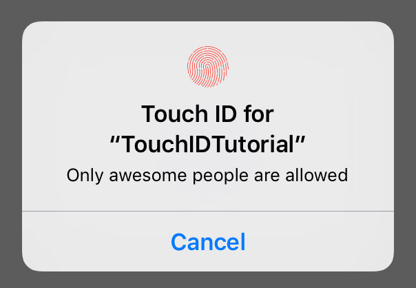 TouchID authentication tutorial for Swift