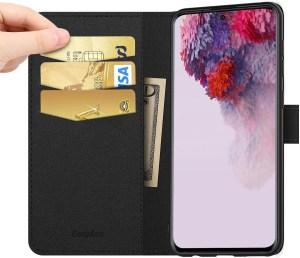 EasyAcc Leather Wallet Case with Kickstand for Galaxy S20 S20 5G