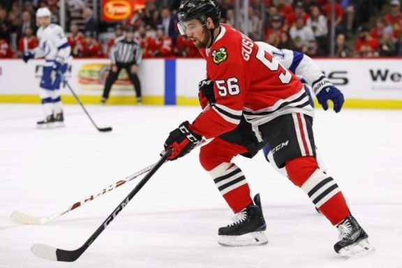 """The Rink ErikGustafsson-e1540138650342 Analysis: Is """"Gus"""" that good? Or is the """"D"""" that bad? Gustafsson Blackhawks"""