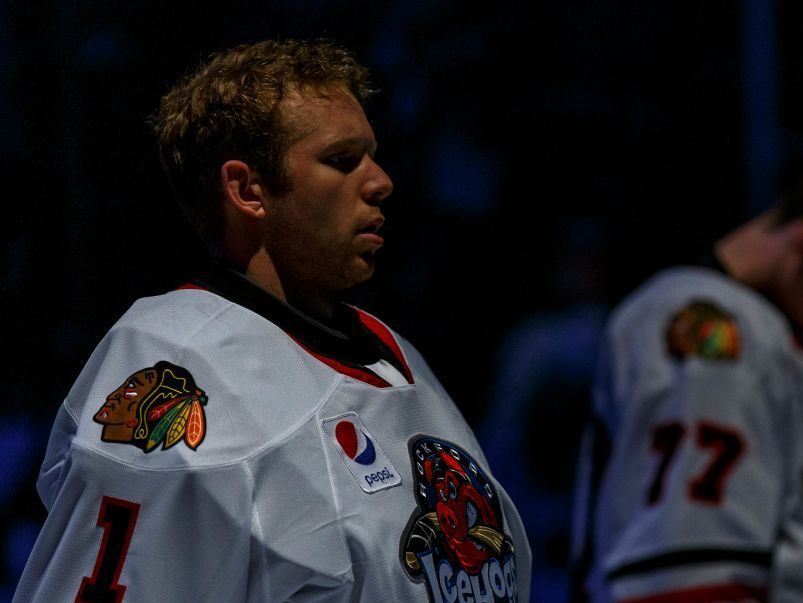 """Collin Delia focusing on the """"here and now"""" with IceHogs"""