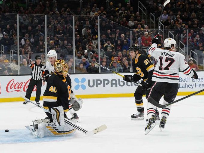 RECAP: Chicago surrenders three-goal lead late in Boston, but win in overtime 4-3