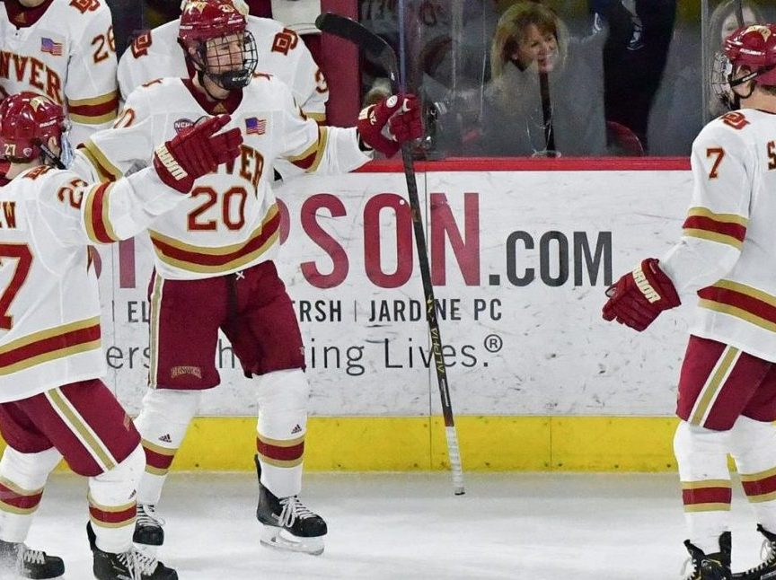 Pioneers eyeing playoff home-ice after split with St. Cloud