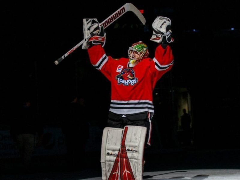 Collin Delia named Rockford IceHogs 2019–20 IOA/American Specialty AHL Man of the Year