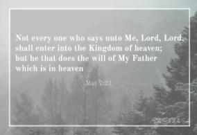 enter the Kingdom of Heaven